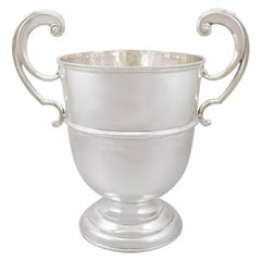 Antique Edwardian 1905 Sterling Silver Presentation Champagne Cup