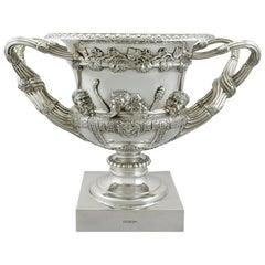 Antique Edwardian 1908 Sterling Silver Warwick Vase Centerpiece