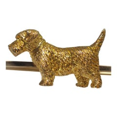 Antique Edwardian 9 Carat Gold Terrier Brooch