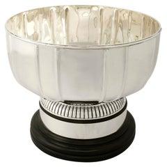 Antique Edwardian Art Deco Sterling Silver Presentation Bowl