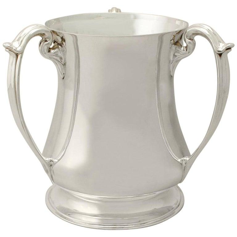Antique Edwardian Art Nouveau Style Sterling Silver Presentation/Champagne Cup For Sale