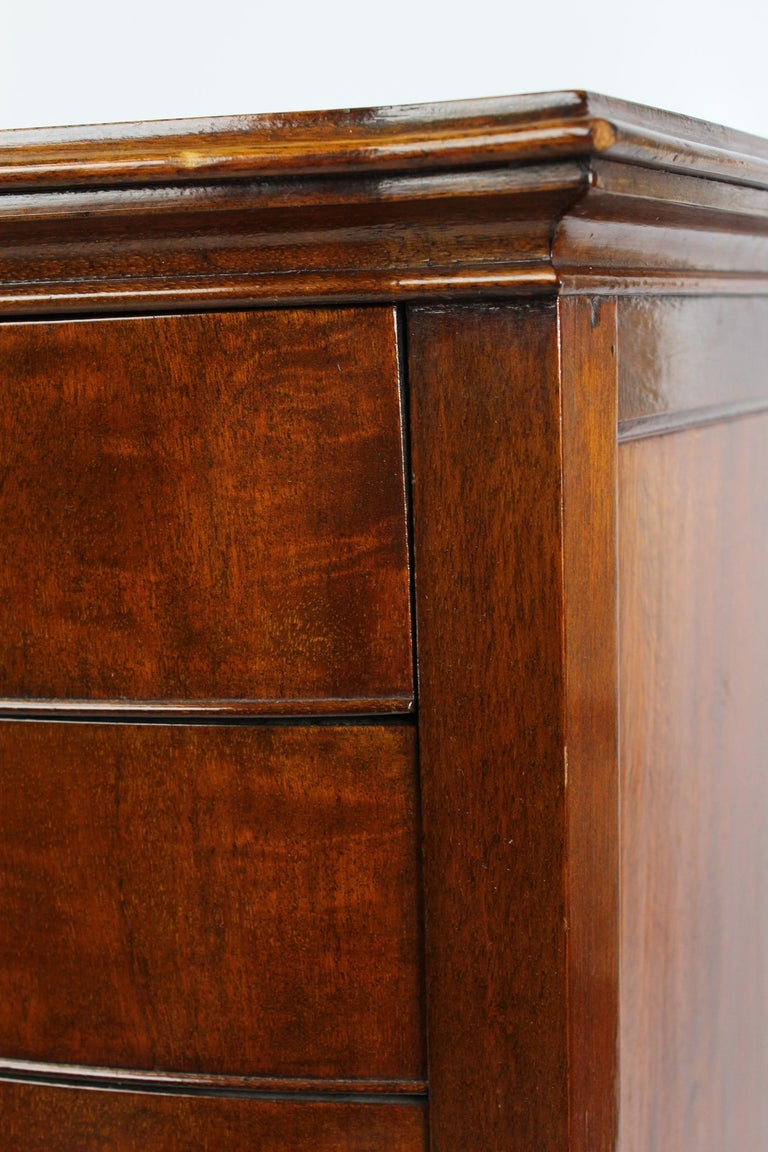Antique Edwardian Bow Front Mahogany Music Cabinet English Chest, circa 1910 For Sale 6