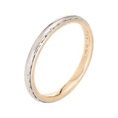 Antique Edwardian c1904 Wedding Band Vintage Ring 14k Platinum Jewelry