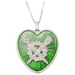 Antique Edwardian Cartier Heart Pendant