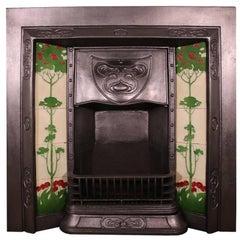 Antique Edwardian Cast Iron Grate