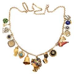 Antique Edwardian Charm Necklace
