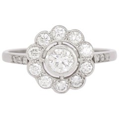 Antique Edwardian Diamond Cluster Ring