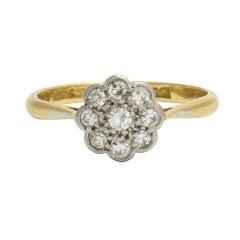 Antique Edwardian Diamond Daisy Cluster Ring