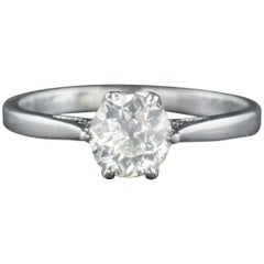 Antique Edwardian Diamond Engagement Ring Platinum, circa 1910