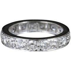 Antique Edwardian Diamond Eternity Ring Platinum, circa 1915