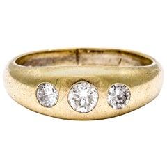 Antique Edwardian Diamond Gypsy Set Ring
