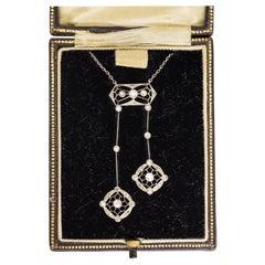 Antique Edwardian Diamond Negligee Necklace