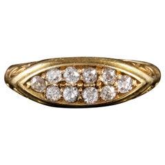 Antique Edwardian Diamond Ring 18 Carat Gold Dated 1904
