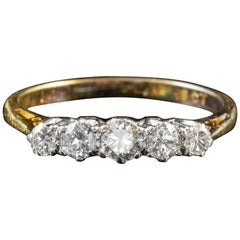 Antique Edwardian Diamond Ring 18 Carat Gold Platinum, circa 1910