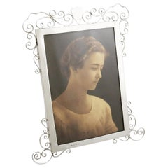 Antique Edwardian English Sterling Silver Photograph Frame, 1903