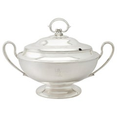 Antique Edwardian English Sterling Silver Soup Tureen, 1902