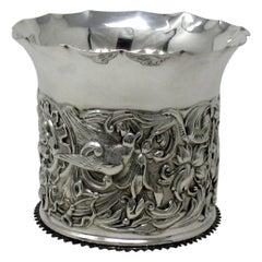 Antique Edwardian English Sterling Silver Wine Bottle Coaster William Comyns