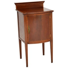 Antique Edwardian Inlaid Mahogany Bedside Cabinet