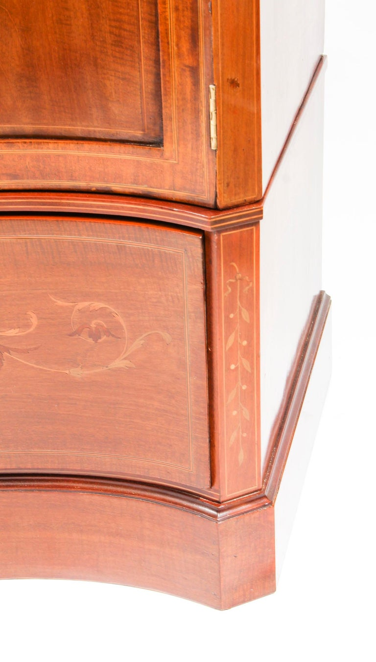 Antique Edwardian Inlaid Wardrobe Attributed to Edwards & Roberts, 19th Century For Sale 8