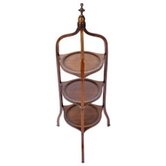 Antique Edwardian Mahogany 3-Tier Cake Stand, 1900s