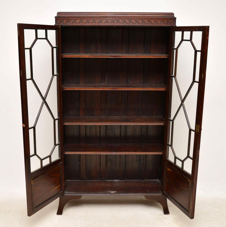 Antique Edwardian Mahogany Bookcase For Sale At 1stdibs