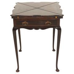 Antique Edwardian Mahogany Envelope Games Table, Scotland 1910, B2381