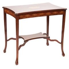 Antique Edwardian Mahogany Inlaid Centre Table