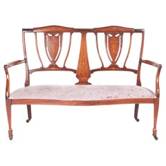 Antique Edwardian Mahogany Inlaid Sofa