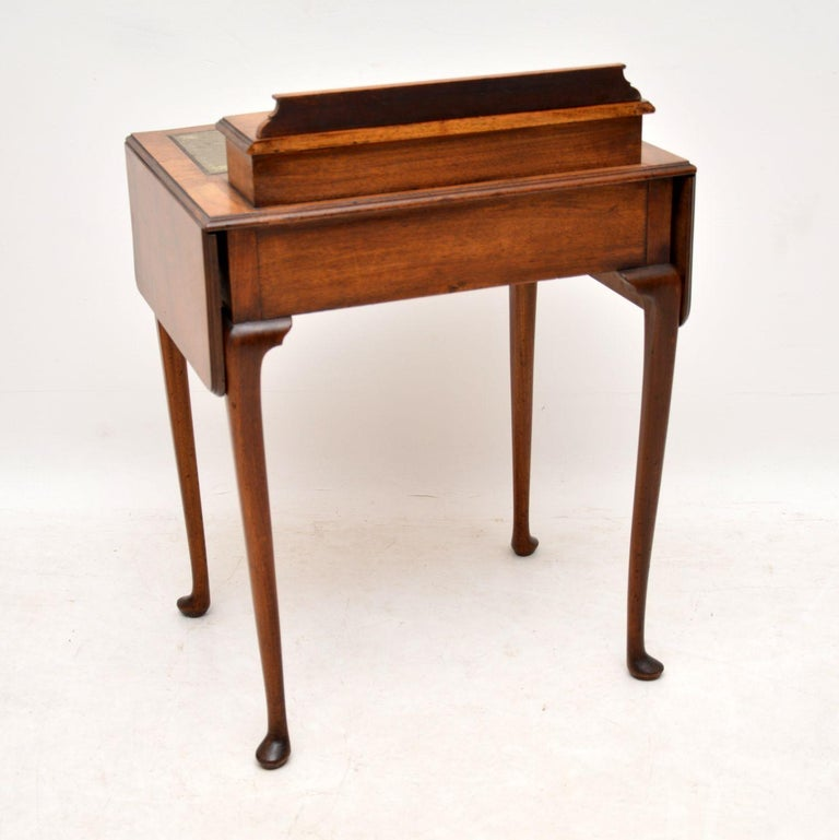 Antique Edwardian Mahogany and Leather Writing Table For Sale 5