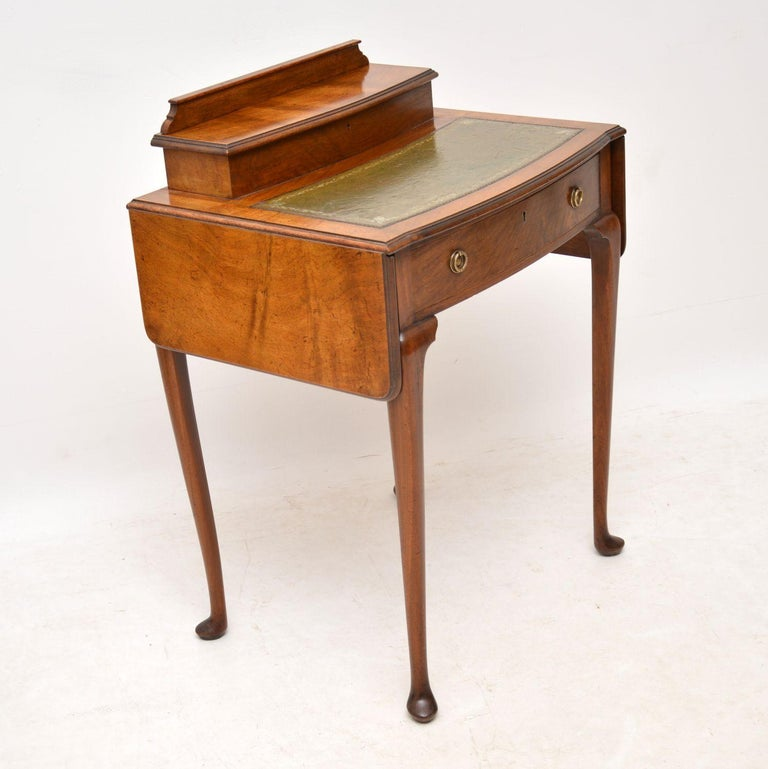 Antique Edwardian Mahogany and Leather Writing Table For Sale 2