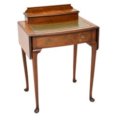 Antique Edwardian Mahogany and Leather Writing Table