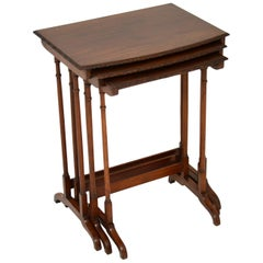 Antique Edwardian Mahogany Nest of Tables
