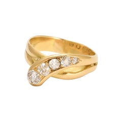 Antique Edwardian OMC Diamond Serpent Ring