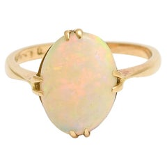 Antique Edwardian Opal Solitaire Ring