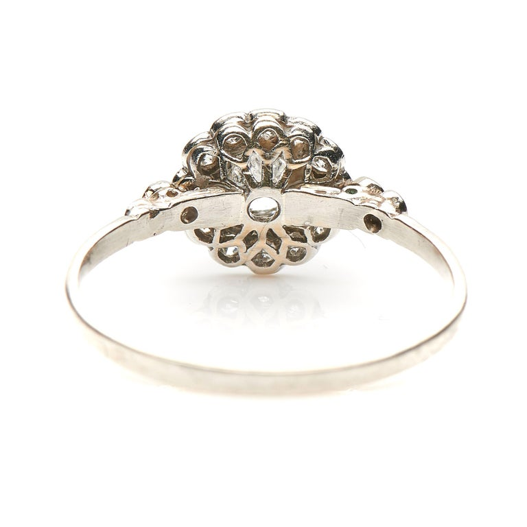Edwardian Engagement Rings For Sale: Antique, Edwardian, Platinum, Diamond Cluster Engagement