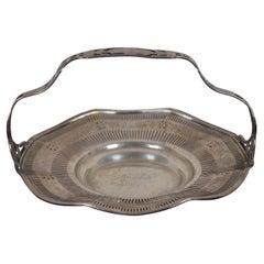 Antique Edwardian Reticulated Gorham Sterling Silver Bread Cake Bridal Basket