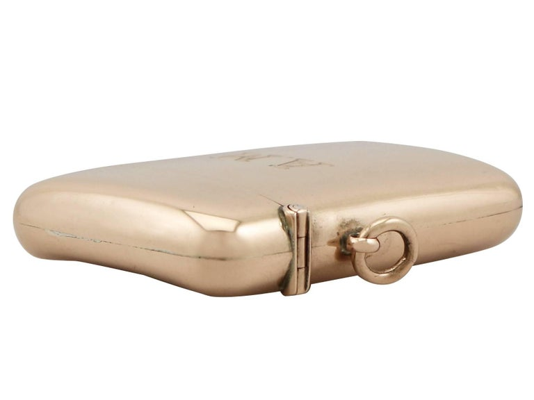 Antique Edwardian Rose Gold Vesta Case In Excellent Condition For Sale In Jesmond, Newcastle Upon Tyne