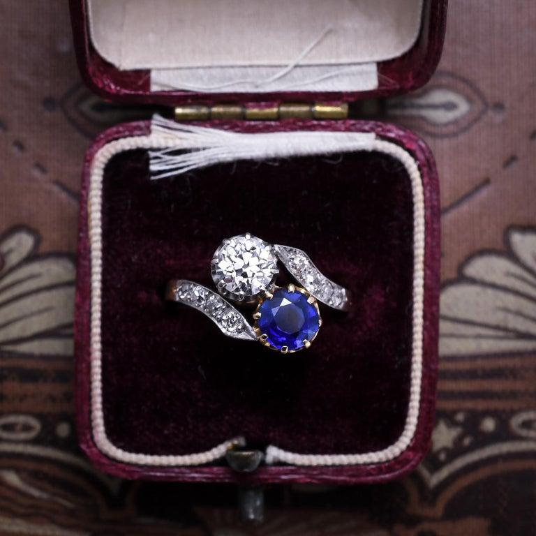 Women's Antique Edwardian Sapphire Diamond
