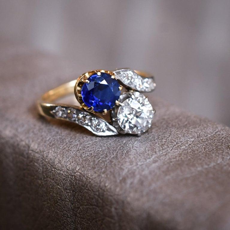 Antique Edwardian Sapphire Diamond