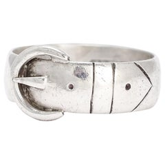 Antique Edwardian Silver Buckle Ring