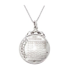 Antique Edwardian Silver Perpetual Calendar Pendant