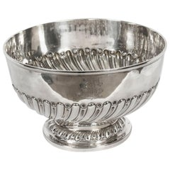 Antique Edwardian Silver Punch Bowl Goldsmiths & Silversmiths Co, 1901