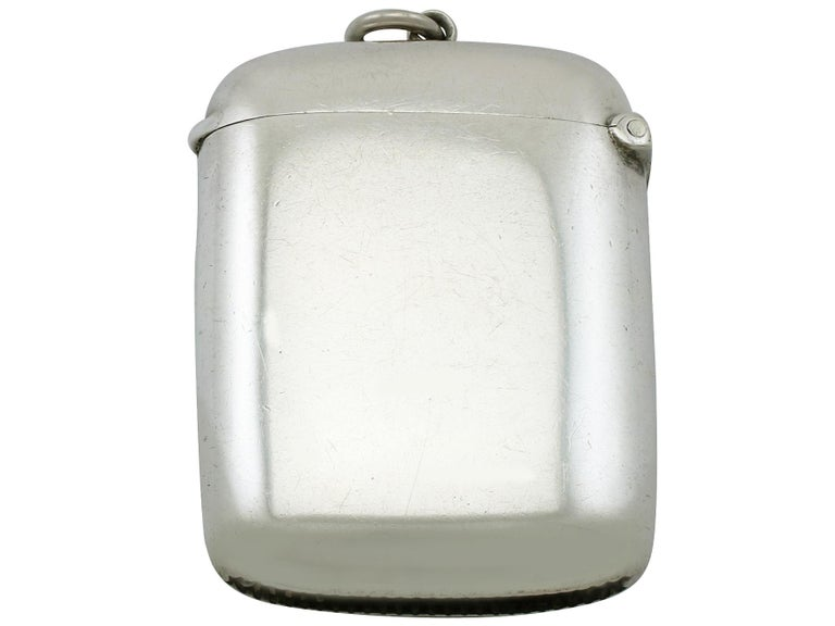 An exceptional, fine and impressive antique Edwardian sterling silver and enamel vesta case; an addition to our enamel and silverware collection