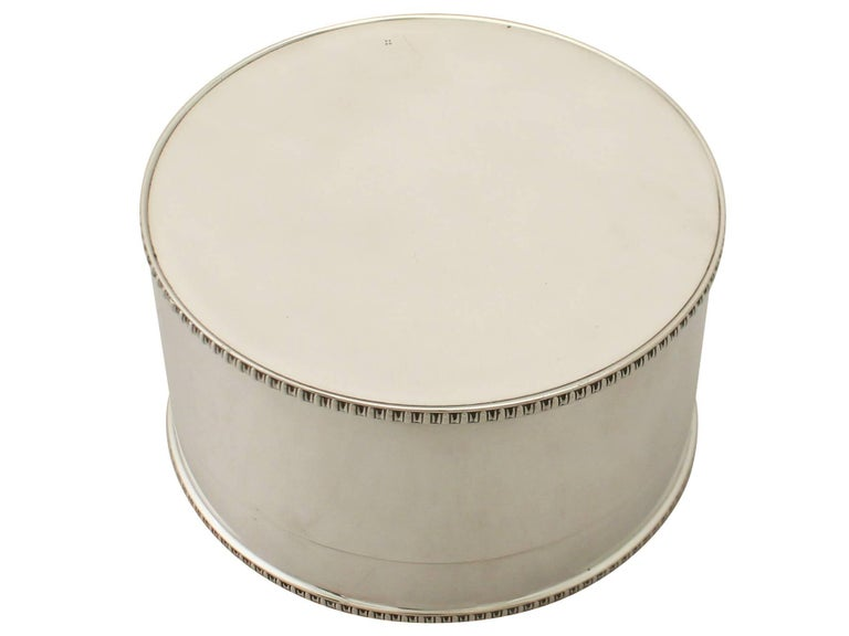 Antique Edwardian Sterling Silver Biscuit Box 4