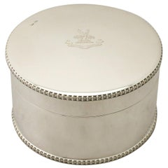 Antique Edwardian Sterling Silver Biscuit Box