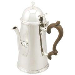 Antique Edwardian Sterling Silver Coffee Pot