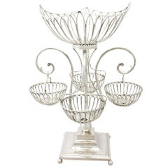 Antique Edwardian Sterling Silver Epergne Centrepiece