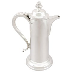 Antique Edwardian Sterling Silver Flagon, 1908