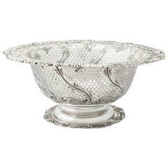 Antique Edwardian Sterling Silver Fruit Dish