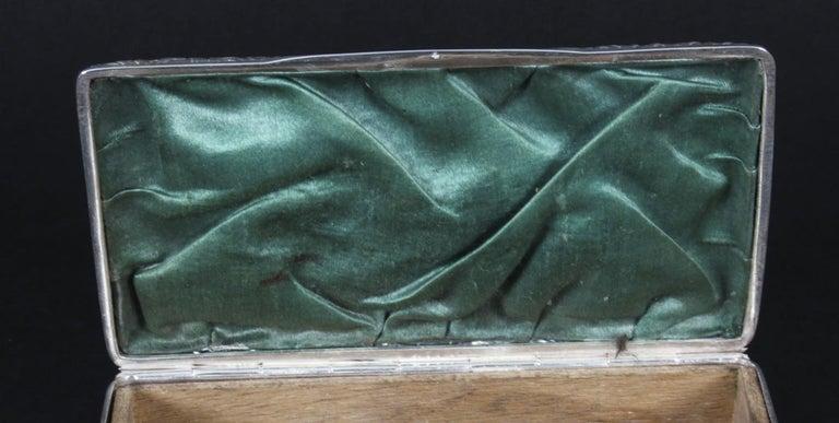 Antique Edwardian Sterling Silver Jewellery Box Casket H. Matthews, 1901 For Sale 7